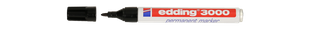 EDDING Permanentmarker 3000 Rundspitze 1,5-3 mm schwarz