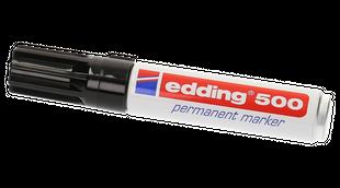 EDDING Permanentmarker 500 Keilspitze 2-7 mm schwarz