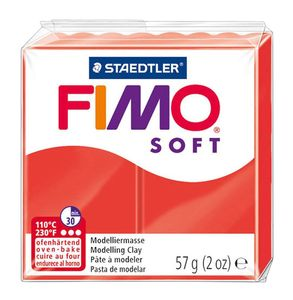 STAEDTLER Fimo Soft Einzelblock ofenhärtend indischrot