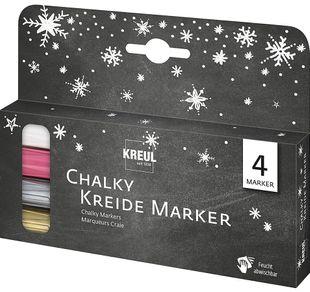 """KREUL Chalky Kreidemarker-Set """"Winter"""" 4 Stück mehrere Farben"""