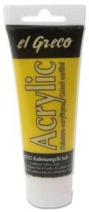 EL GRECO Acrylfarbe 75 ml kadmiumgelb