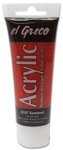 EL GRECO Acrylfarbe 75 ml karminrot