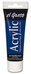 EL GRECO Acrylfarbe 75 ml kobaltblau dunkel