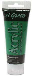 EL GRECO Acrylfarbe 75 ml permanentgrün