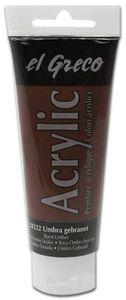 EL GRECO Acrylfarbe 75 ml umbra gebrannt