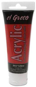 EL GRECO Acrylfarbe 75 ml echtrot