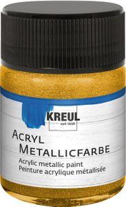 KREUL Acryl Metallicfarbe gold 50 ml