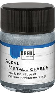 KREUL Acryl Metallicfarbe silber 50 ml