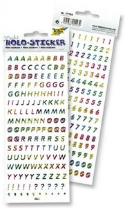 "FOLIA Holo-Sticker ""Buchstaben & Zahlen"" 2er-Set"