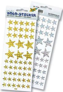 "FOLIA Sticker Holo ""Sterne"" silber oder gold"
