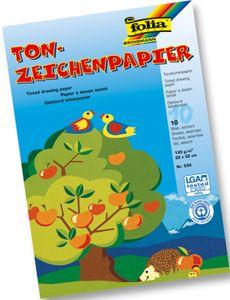 FOLIA Tonzeichenpapier 10 Bögen 22 x 32 cm mehrere Farben