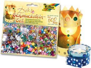 FOLIA Schmucksteine-Set 800 Teile