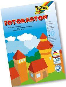 FOLIA Fotokarton 10 Bögen mehrere Farben