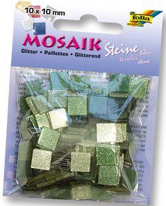 """FOLIA Mosaiksteine """"Glitter"""" 190 Stück grün"""