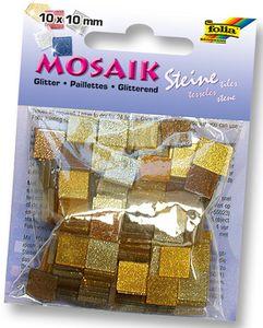 "FOLIA Mosaiksteine ""Glitter Mix"" 190 Stück braun"