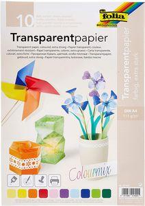 FOLIA Transparentpapier A4 10 Blatt mehrere Farben