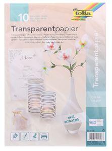 FOLIA Transparentpapier A4 10 Blatt weiß