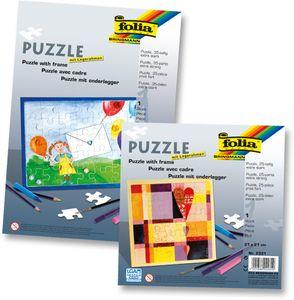 FOLIA Puzzle A4 blanko mit Legerahmen 35-teilig