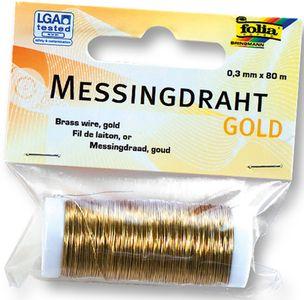 FOLIA Messingdraht 0,3 mm x 80 m gold