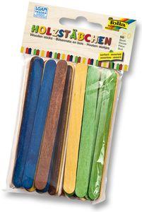 FOLIA Holzstäbchen 50 Stück mehrere Farben