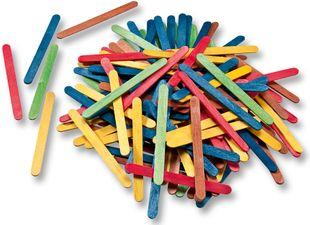 FOLIA Holzstäbchen 500 Stück mehrere Farben