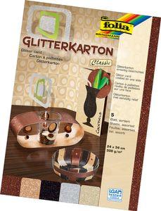 """FOLIA Glitterkarton """"Classic"""" 24 x 34 cm mehrere Farben"""
