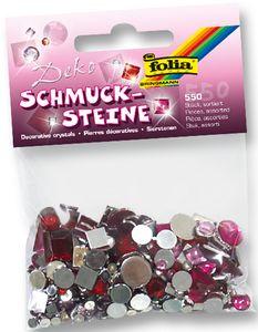"""FOLIA Schmucksteine """"Sweetheart"""" 550 Stück eckig/rund"""