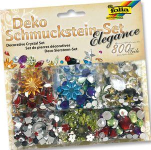 """FOLIA Schmucksteine-Set """"Elegance"""" 800 Teile"""