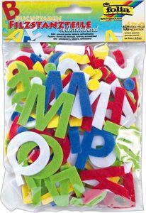 FOLIA Filzstanzteile Buchstaben 150 Stück selbstklebend mehrere Farben
