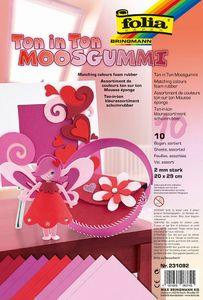 "FOLIA Moosgummi ""Ton in Ton"" 10 Bögen 20 x 29 cm rot"