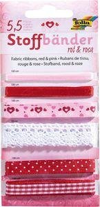 FOLIA Stoffbänder 6 Stück mehrere Farben