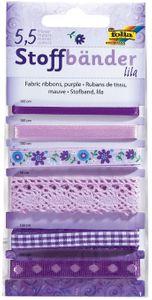 FOLIA Stoffbänder 6 Stück violett