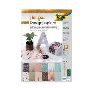 "FOLIA Designblock ""Hotfoil"" DIN A4 12 Blatt bunt"