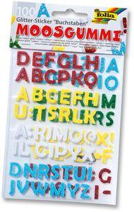 """FOLIA Glitter-Sticker """"Buchstaben"""" aus Moosgummi 100 Stück"""