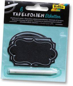 FOLIA Tafelfolien-Etiketten 6 Stück schwarz