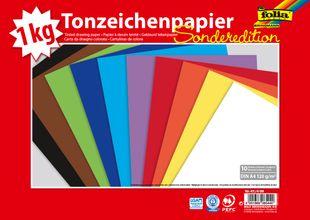 FOLIA Tonzeichenpapier A4 1 kg mehrere Farben