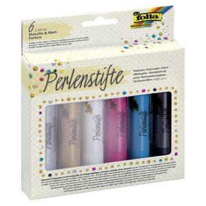FOLIA Perlenstifte-Set 6 Stück mehrere Farben
