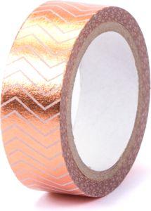"""Washi Tape """"Streifen"""" 15 mm x 5 m mit Metallic-Effekt rosegold"""