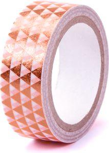 """Washi Tape """"Dreiecke"""" 15 mm x 5 m mit Metallic-Effekt rosegold"""