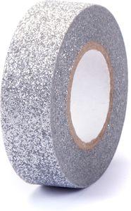 """Washi Tape """"Glitzer"""" 15 mm x 5 m silber"""