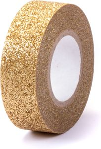 "Washi Tape ""Glitzer"" 15 mm x 5 m gold"
