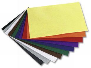 FOLIA Bastelfilz 10 Bögen selbstklebend 20 x 30 cm mehrere Farben