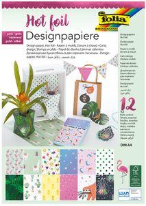 "FOLIA Designpapierblock ""Hotfoil II"" A4 12 Blatt bunt"