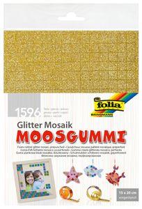 """FOLIA Moosgummi-Mosaiksteine """"Glitter"""" 6 Bögen mehrere Farben"""