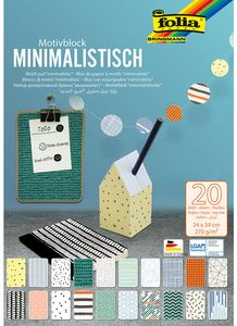 """FOLIA Motivblock """"Minimalistisch"""" 20 Blatt 24 x 34 cm bunt"""