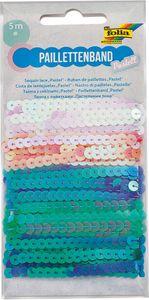 FOLIA Paillettenband 5 x 1 m pastell