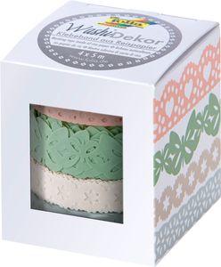 """FOLIA Washi-Dekor """"Pastell"""" 4 Stück mehrere Farben"""