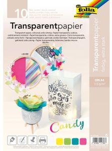"FOLIA Transparentpapier A4 ""Candy"" 10 Blatt mehrere Farben"