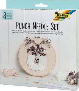 """FOLIA Punch Needle Set """"Alpaka"""" 8 Teile"""