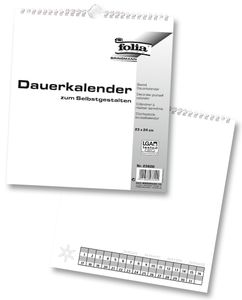 FOLIA Bastelkalender 23 x 24 cm weiß